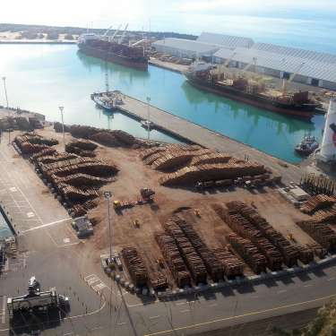 Late log boost for Napier Port