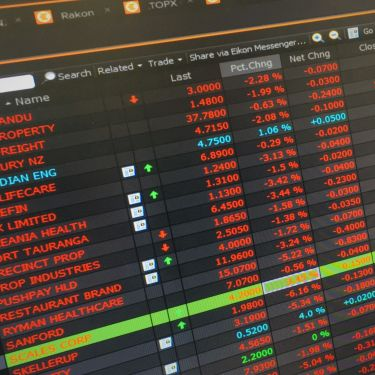 NZ shares pare back losses after rocky open